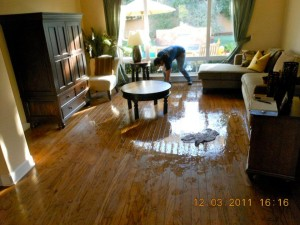 water damage inside San Diego home